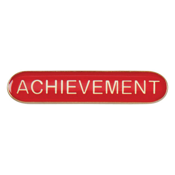 Achievement Metal School Bar Badge - SB16112R
