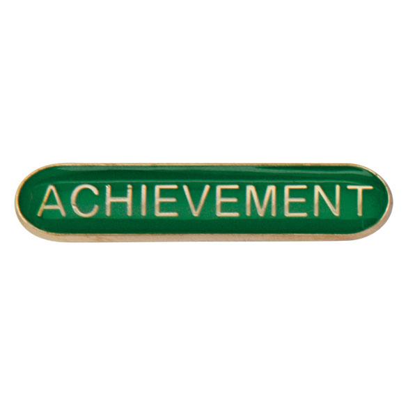 Achievement Metal School Bar Badge - SB16112G