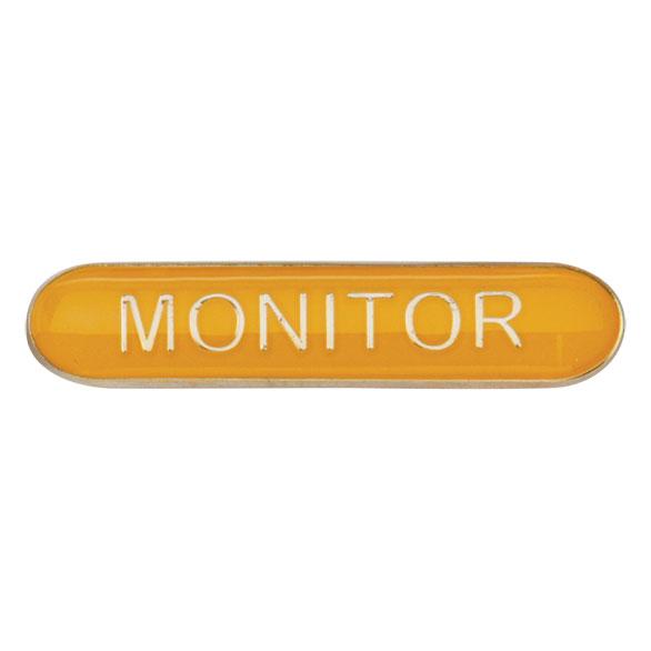 Monitor Metal School Bar Badge - SB16118Y