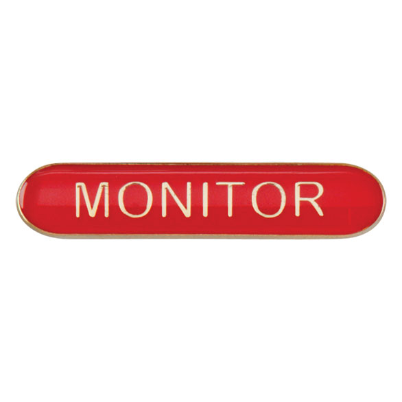 Monitor Metal School Bar Badge - SB16118R