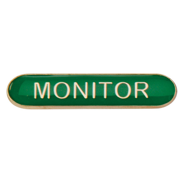 Monitor Metal School Bar Badge - SB16118G