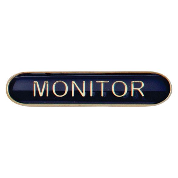 Monitor Metal School Bar Badge - SB16118B