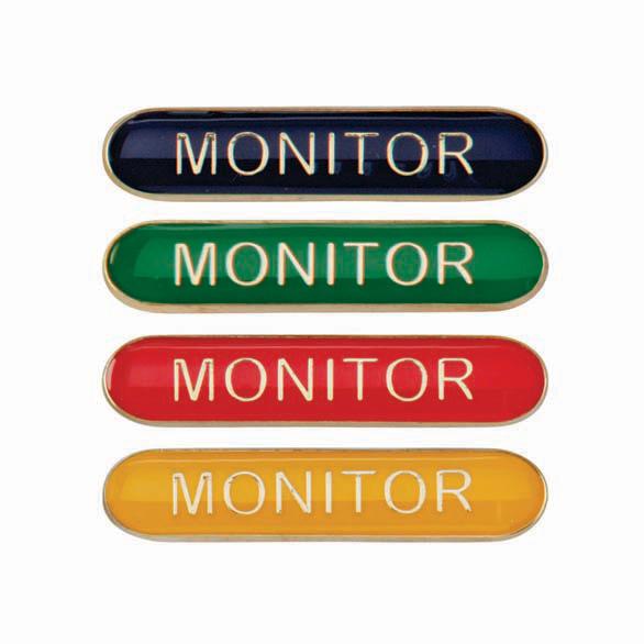 Monitor Metal School Bar Badge - SB16118