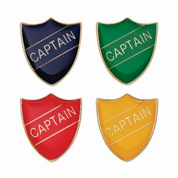 Captain Metal School Shield Badge - SB16101