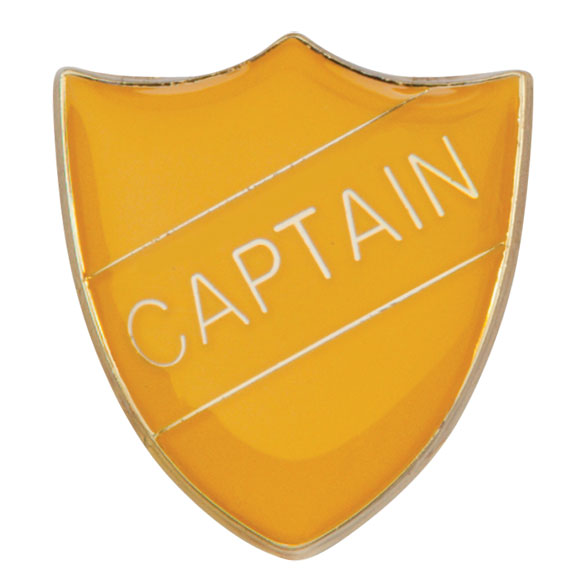 Captain Metal School Shield Badge - SB16101Y