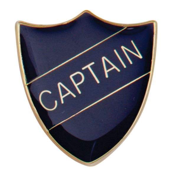 Captain Metal School Shield Badge - SB16101B