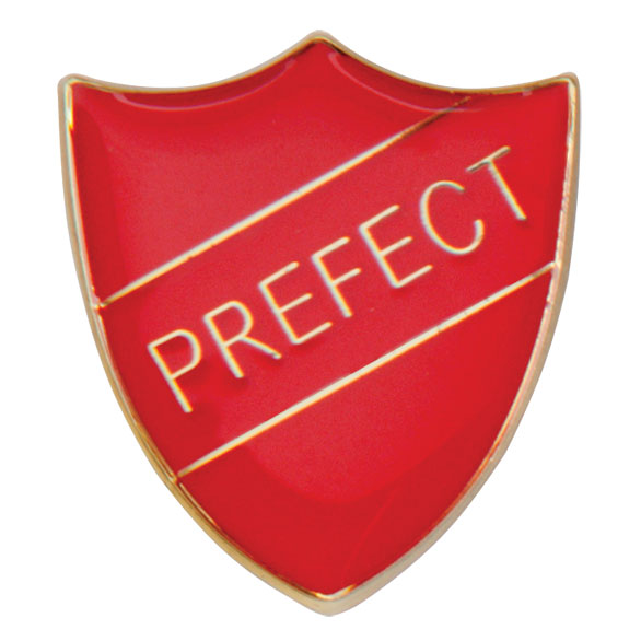 Prefect Metal School Shield Badge - SB16108R