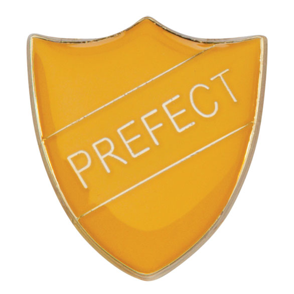 Prefect Metal School Shield Badge - SB16108Y