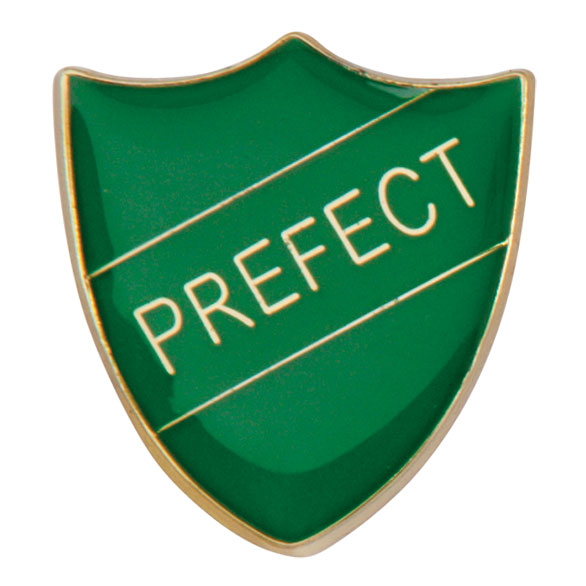 Prefect Metal School Shield Badge - SB16108G