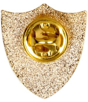 Captain Metal School Shield Badge reverse - SB16101