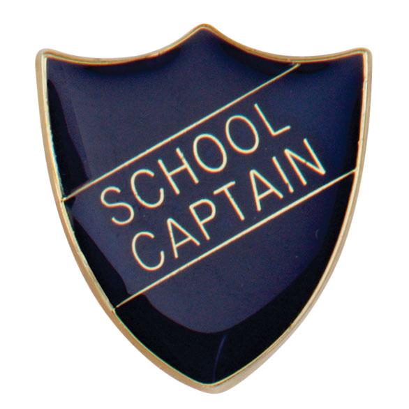 School Captain Metal School Shield Badge - SB16109B