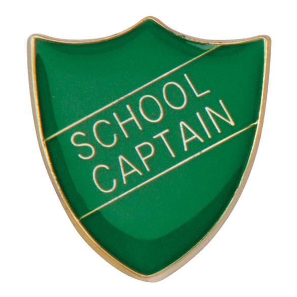 School Captain Metal School Shield Badge - SB16109G