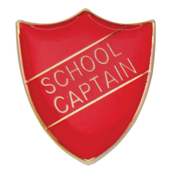 School Captain Metal School Shield Badge - SB16109R