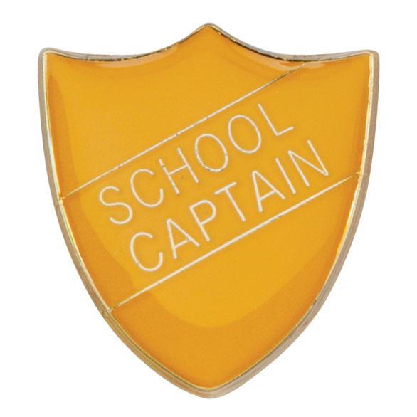 School Captain Metal School Shield Badge - SB16109Y
