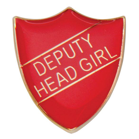 Deputy Head Girl Metal School Shield Badge - SB16102R