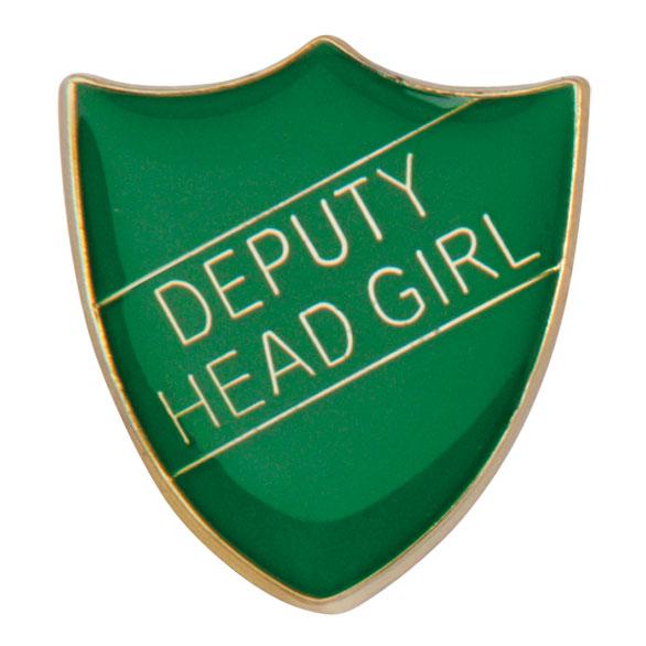 Deputy Head Girl Metal School Shield Badge - SB16102G