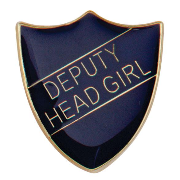 Deputy Head Girl Metal School Shield Badge - SB16102B