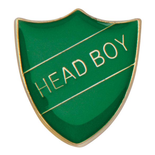 Head Boy Metal School Shield Badge - SB16105G
