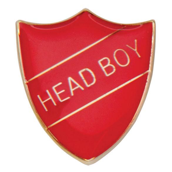 Head Boy Metal School Shield Badge - SB16105R