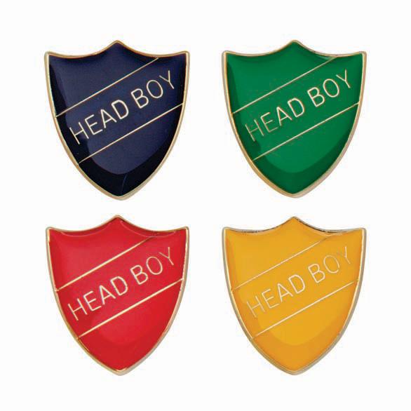 Head Boy Metal School Shield Badge - SB16105