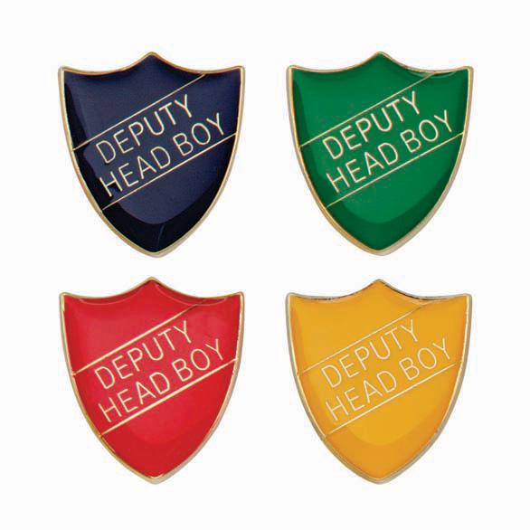 Deputy Head Boy Metal School Shield Badge - SB16103