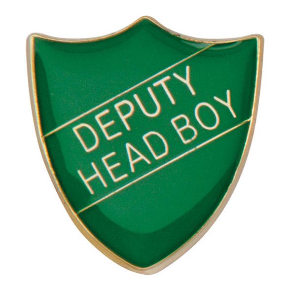Deputy Head Boy Metal School Shield Badge - SB16103G