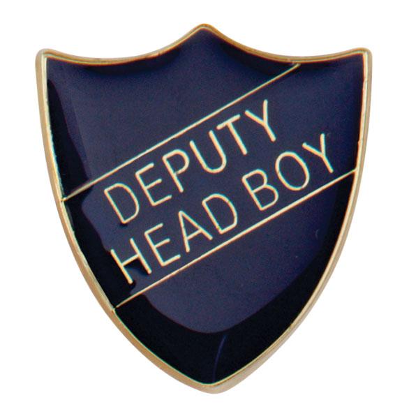 Deputy Head Boy Metal School Shield Badge - SB16103B