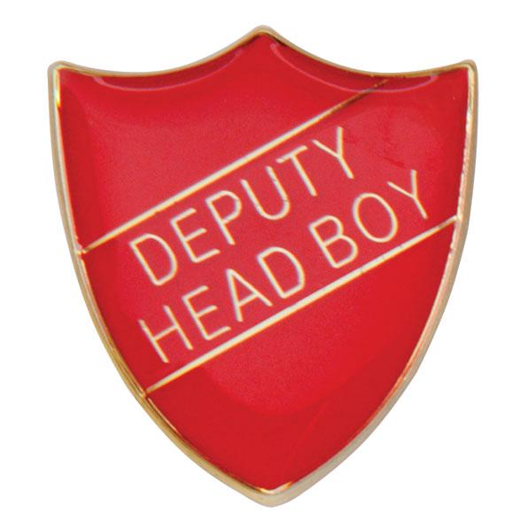 Deputy Head Boy Metal School Shield Badge - SB16103R