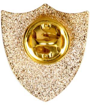 Form Captain Metal School Shield Badge reverse - SB16104