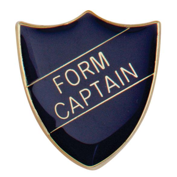 Form Captain Metal School Shield Badge - SB16104B