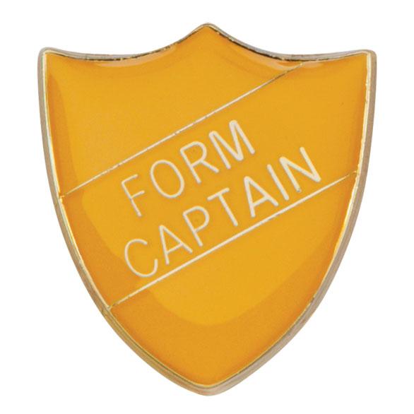 Form Captain Metal School Shield Badge - SB16104Y