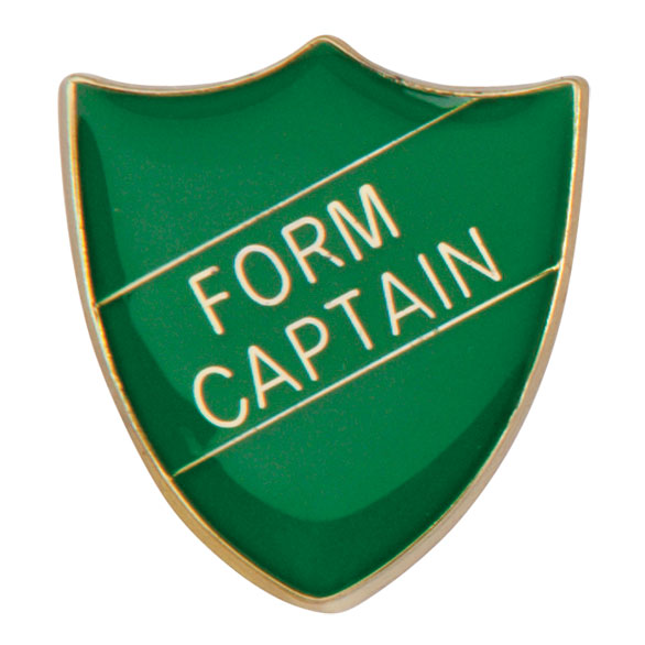 Form Captain Metal School Shield Badge - SB16104G