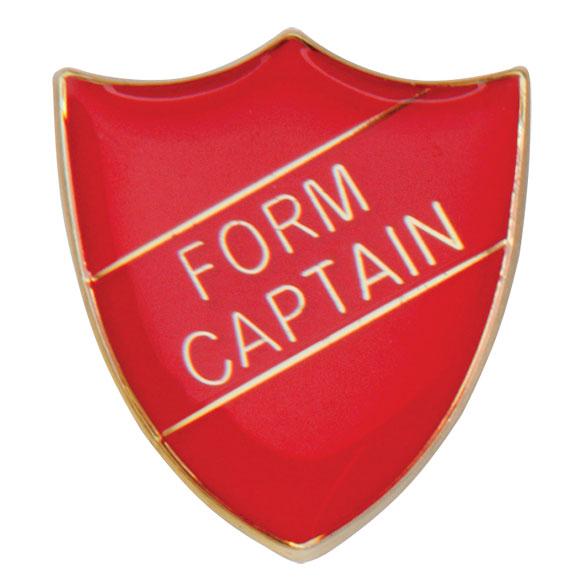 Form Captain Metal School Shield Badge - SB16104R