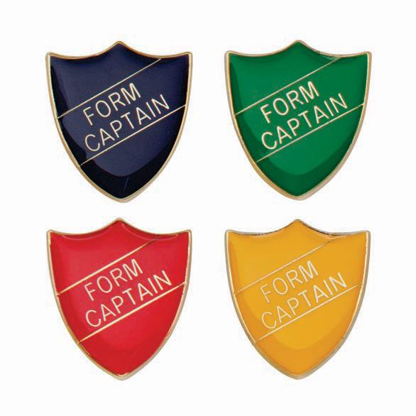 Form Captain Metal School Shield Badge - SB16104