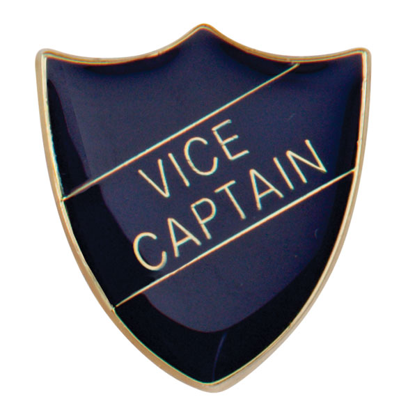 Vice Captain Metal School Shield Badge - SB16111B