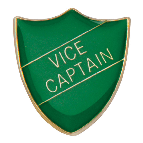 Vice Captain Metal School Shield Badge - SB16111G