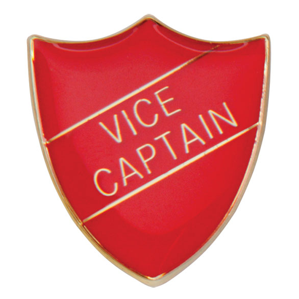 Vice Captain Metal School Shield Badge - SB16111R