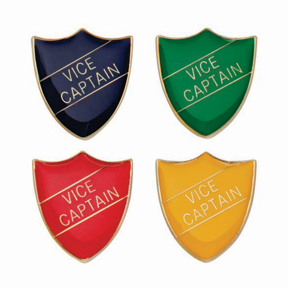 Vice Captain Metal School Shield Badge - SB16111
