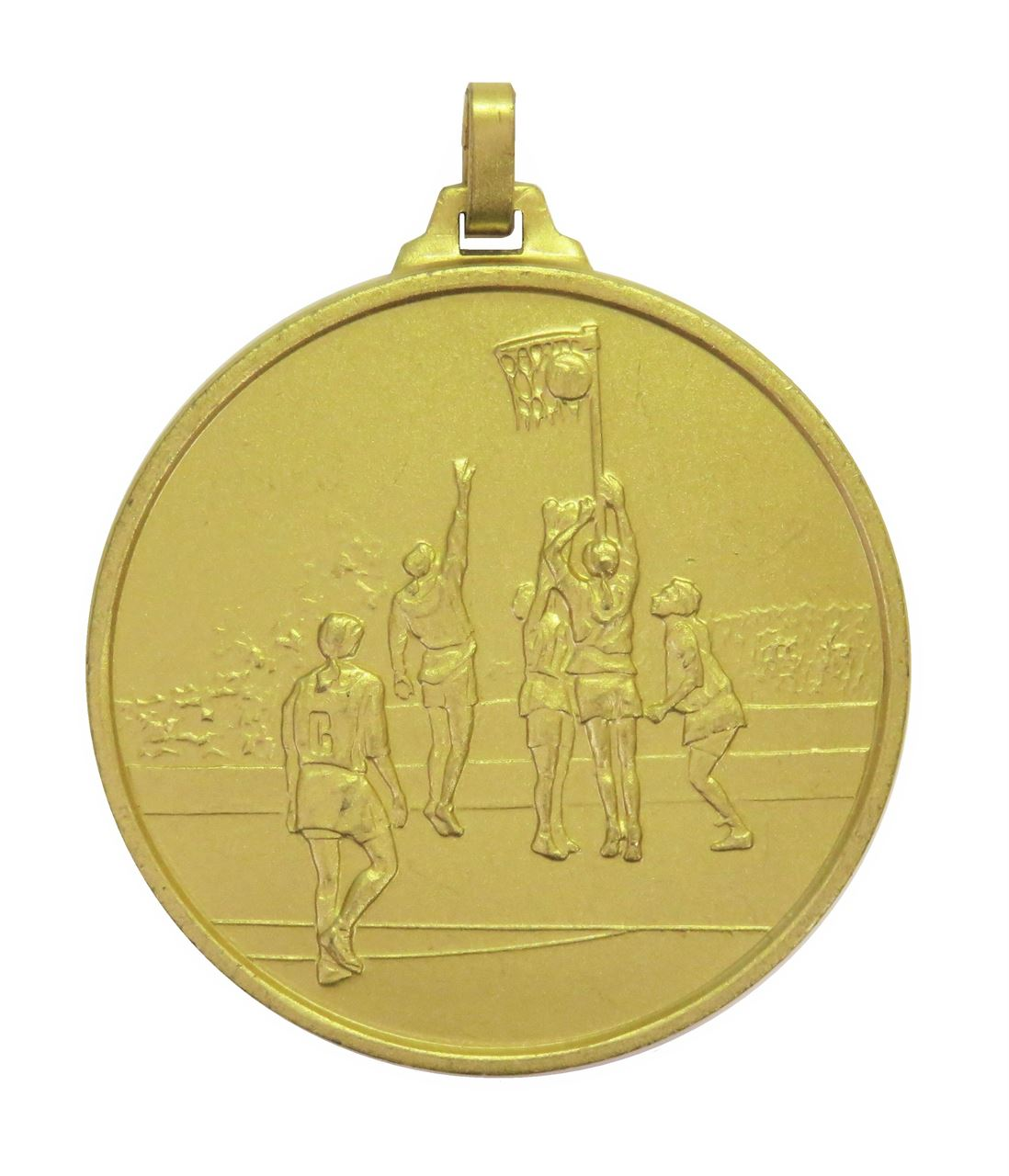 Gold Economy Netball Medal (size: 52mm) - 899E