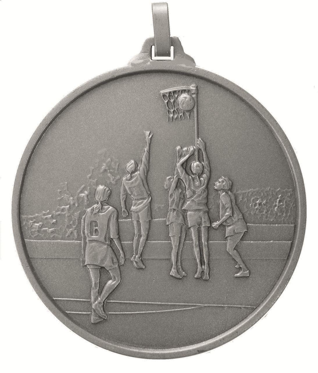 Silver Economy Netball Medal (size: 52mm) - 899E
