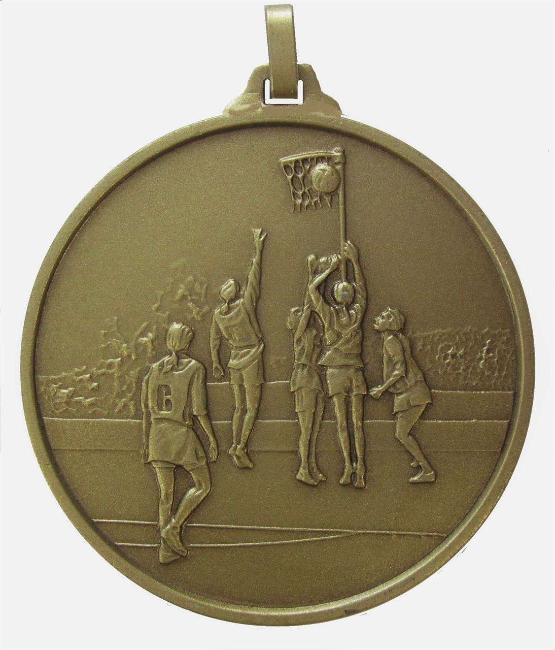 Bronze Economy Netball Medal (size: 52mm) - 899E