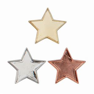 Metallic Star School Pin Badge - SB16126