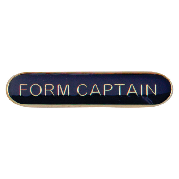 Form Captain Metal School Bar Badge - SB16114B