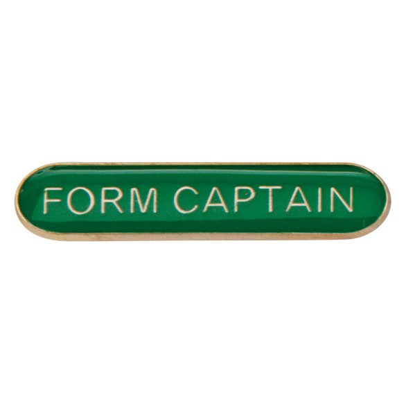 Form Captain Metal School Bar Badge - SB16114G