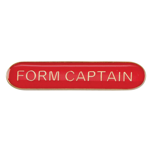 Form Captain Metal School Bar Badge - SB16114R