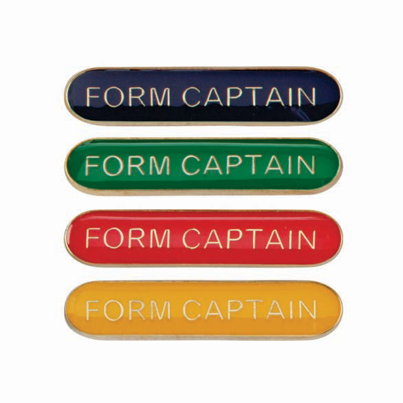 Form Captain Metal School Bar Badge - SB16114