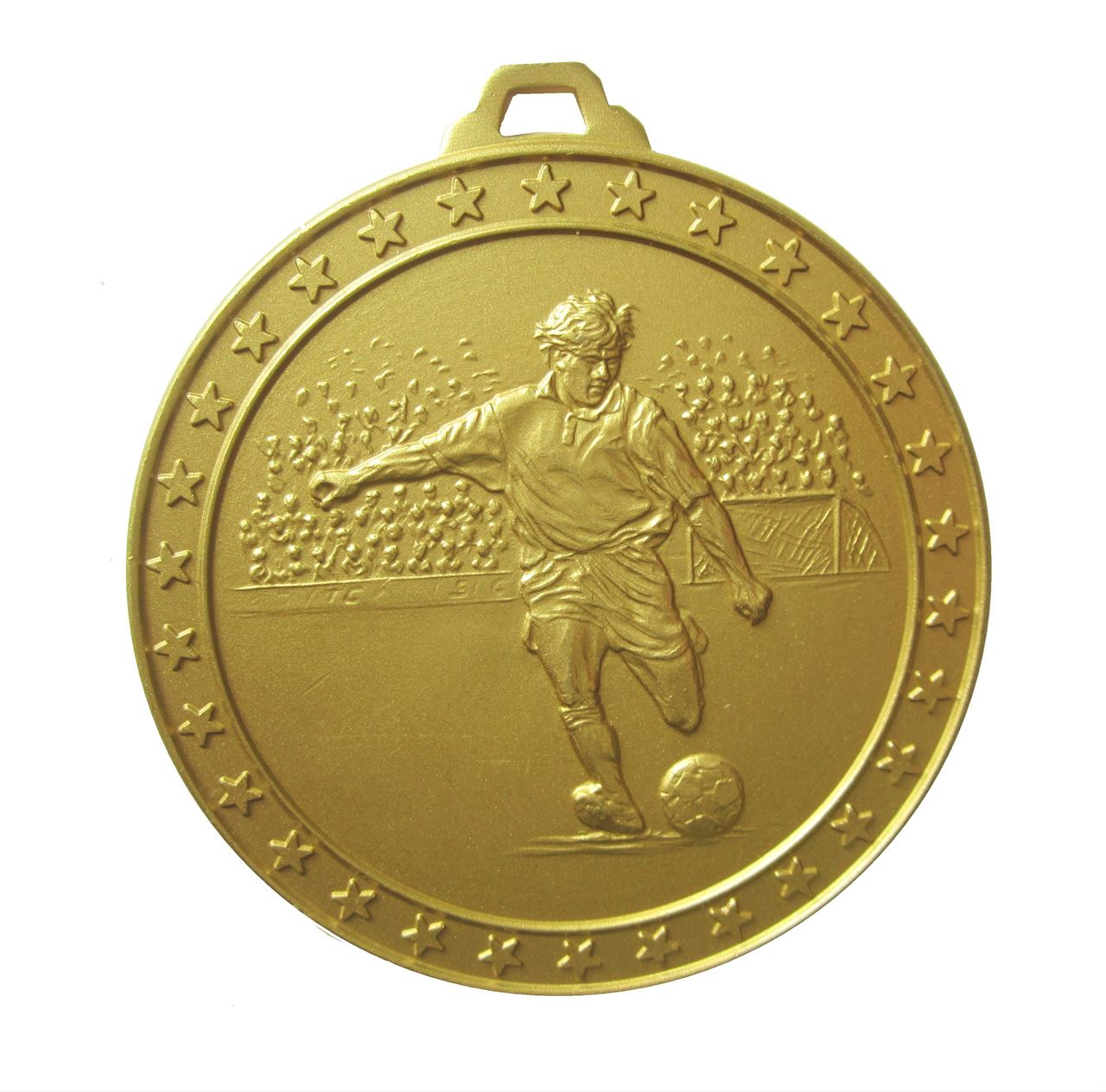 Gold Economy Football Star Medal (size: 60mm) - 434E
