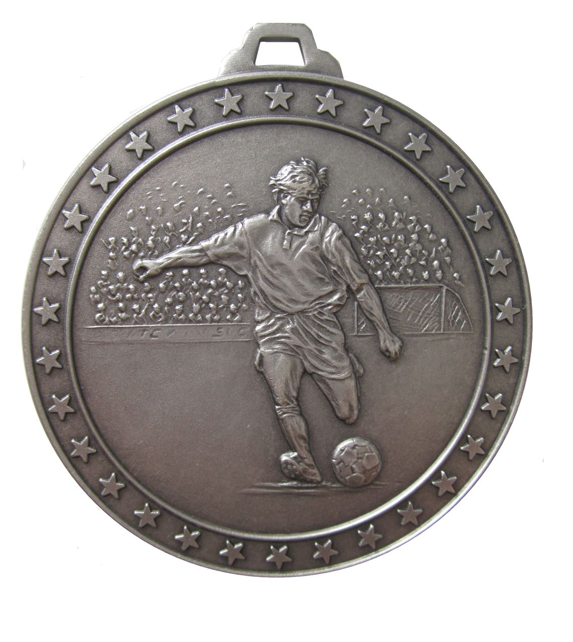 Silver Economy Football Star Medal (size: 60mm) - 434E