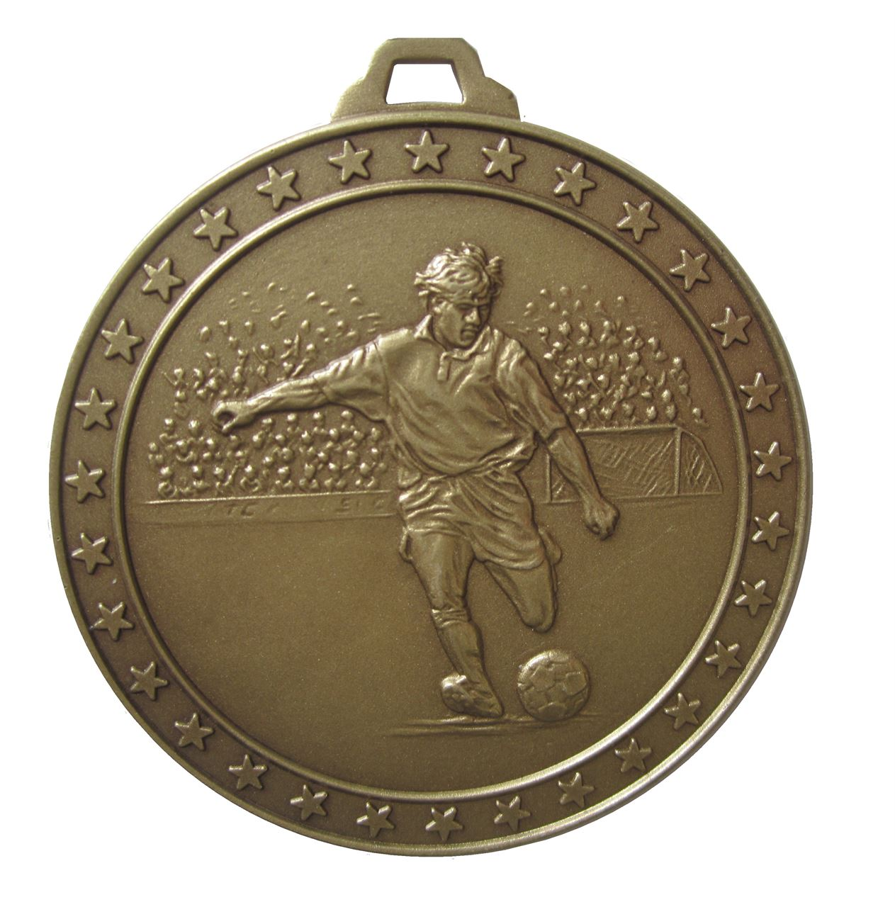 Bronze Economy Football Star Medal (size: 60mm) - 434E