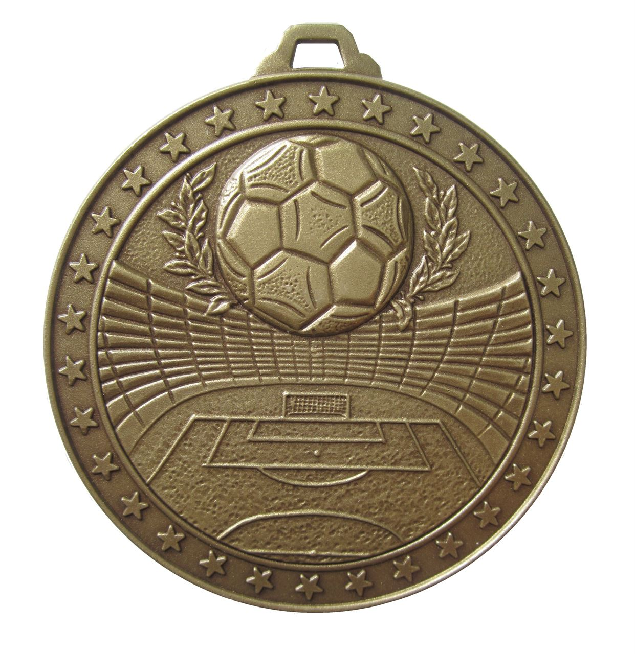 Bronze Economy Football Stadium Medal (size: 60mm) - 435E